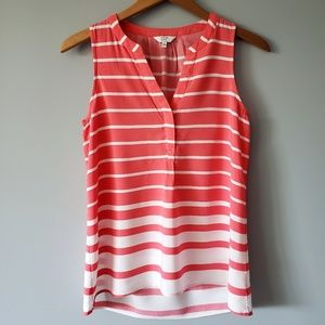 Tops - Crown & Ivy Pink Striped Tank Top Size S D10